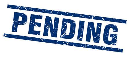 pending: square grunge blue pending stamp
