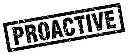 proactive: square grunge black proactive stamp