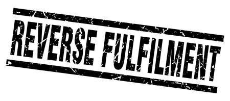 fulfilment: Square grunge black reverse fulfilment stamp