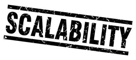 square grunge black scalability stamp