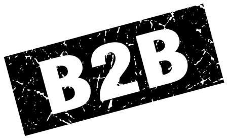 b2b: Square grunge black b2b stamp Illustration