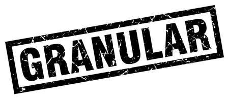 square grunge black granular stamp