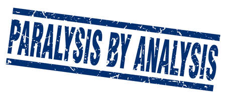 Square grunge blue paralysis by analysis stamp Illustration