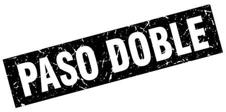 paso doble: square grunge black paso doble stamp
