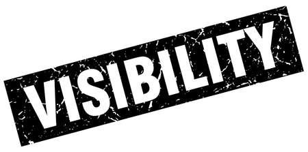 visibility: square grunge black visibility stamp