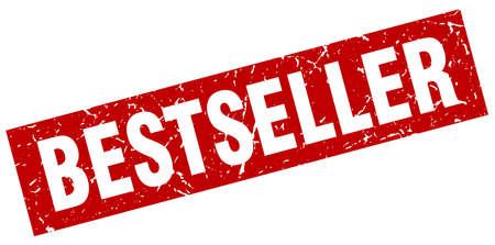 sello de bestseller rojo cuadrado grunge Ilustración de vector