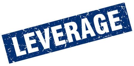leverage: square grunge blue leverage stamp