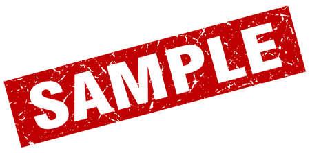 vierkante grunge rode voorbeeldzegel