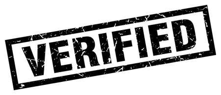 verified stamp: square grunge black verified stamp