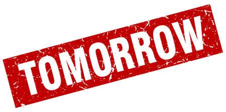 carré rouge timbre rouge demain Vecteurs