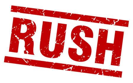 square grunge red rush stamp