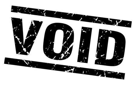 square grunge black void stamp Vector Illustration