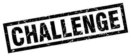 square grunge black challenge stamp 向量圖像
