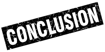 conclusion: square grunge black conclusion stamp Illustration