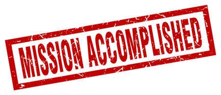 square grunge red mission accomplished stamp