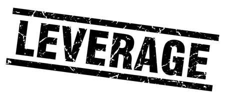 leverage: square grunge black leverage stamp Illustration