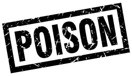 poison: square grunge black poison stamp