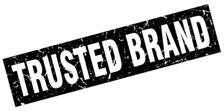 trusted: square grunge black trusted brand stamp Illustration