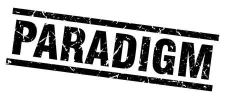 paradigm: square grunge black paradigm stamp