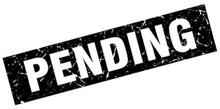 pending: square grunge black pending stamp Illustration