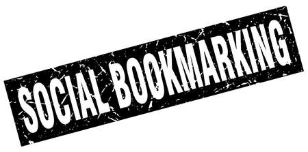 bookmarking: square grunge black social bookmarking stamp