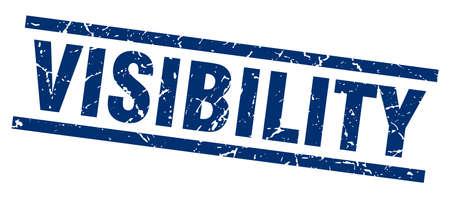 visibility: square grunge blue visibility stamp Illustration