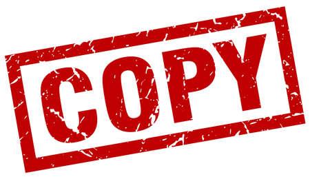 vierkante grunge rode kopie stempel Vector Illustratie