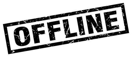 offline: square grunge black offline stamp
