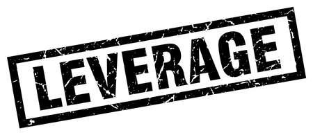 leverage: Square grunge black leverage stamp