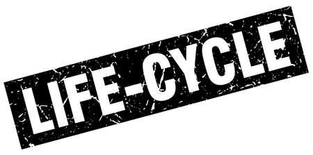 square grunge black life-cycle stamp