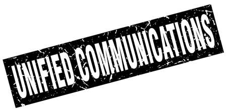square grunge black unified communications stamp