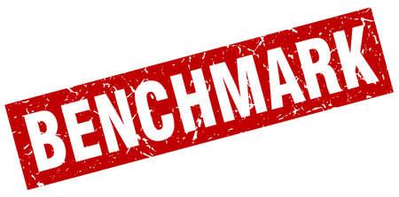 square grunge red benchmark stamp