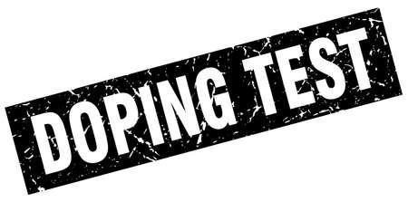 square grunge black doping test stamp