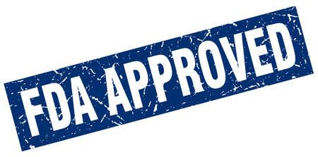 square grunge blue fda approved stamp Illustration