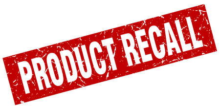 square grunge red product recall stamp Çizim