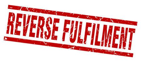 fulfilment: square grunge red reverse fulfilment stamp