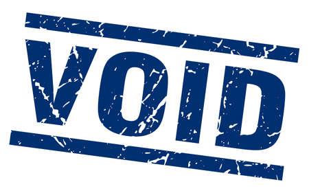 square grunge blue void stamp