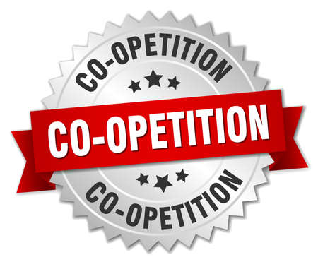 co operation: co-opetition round isolated silver badge