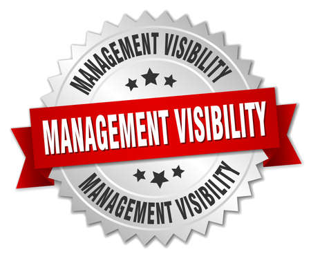 management visibility round isolated silver badge
