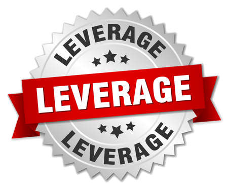 leverage: leverage round isolated silver badge