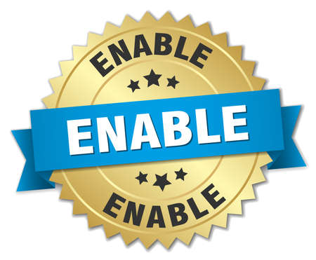 enable: Enable round isolated gold badge