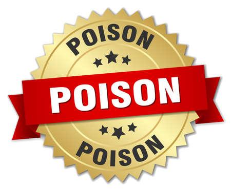 poison: poison round isolated gold badge