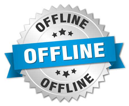 offline: offline round isolated silver badge