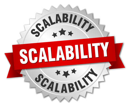 scalability: scalability round isolated silver badge