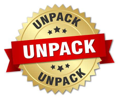 to unpack: unpack round isolated gold badge