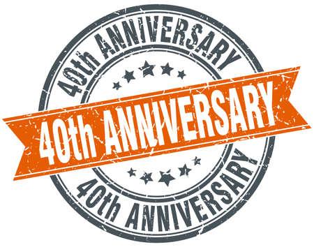 Francobollo del 40 ° anniversario del nastro del grunge