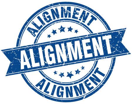 alignment round grunge ribbon stamp