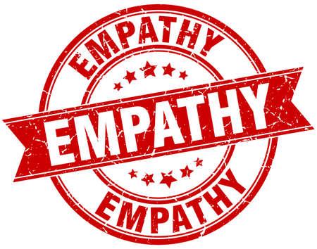empathy: empathy round grunge ribbon stamp