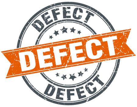 defect round grunge ribbon stamp