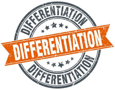 differentiation: differentiation round grunge ribbon stamp Illustration